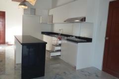 White kitchen cabinet finish project in Compostela, Cebu