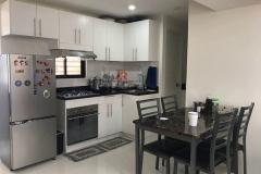 Kitchen White with black galaxy countertop