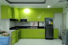 Acrylic Green Kitchen Cabinet