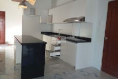 Black and White U-shaped Kitchen